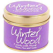 Buy Lily-Flame Winter Wood Mini Candle Tin Online at johnlewis.com
