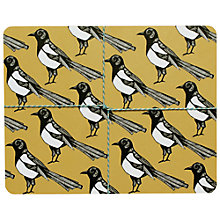 Buy Martha and Hepsie Mischievous Magpie Placemats, Set of 4 Online at johnlewis.com