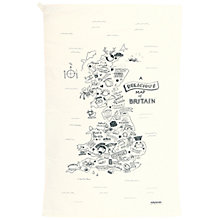 Buy JollySmith Delicious Map of Britain Tea Towel Online at johnlewis.com