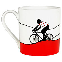 Buy The Art Rooms Polka Dot Jersey Mug, Pink Online at johnlewis.com
