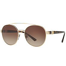 Buy Bvlgari BV6085B Embellished Round Sunglasses Online at johnlewis.com