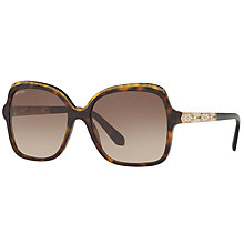 Buy Bvlgari BV8181B Embellished Oversize Square Sunglasses Online at johnlewis.com