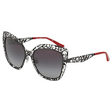 Buy Dolce & Gabbana DG2164 Cat's Eye Sunglasses, Multi/Black Gradient Online at johnlewis.com