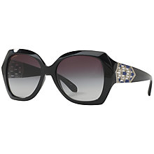 Buy Bvlgari BV8182B Embellished Oversize Square Sunglasses Online at johnlewis.com
