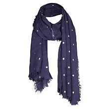 Buy Fat Face Star Foil Scarf Online at johnlewis.com
