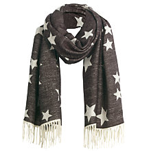 Buy Fat Face Sophia Star Jacquard Scarf, Black/Off White Online at johnlewis.com