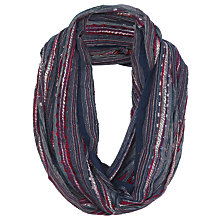 Buy Fat Face Festival Snood, Navy/Multi Online at johnlewis.com