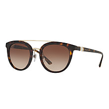 Buy Bvlgari BV8184B Round Sunglasses, Tortoise/Brown Gradient Online at johnlewis.com