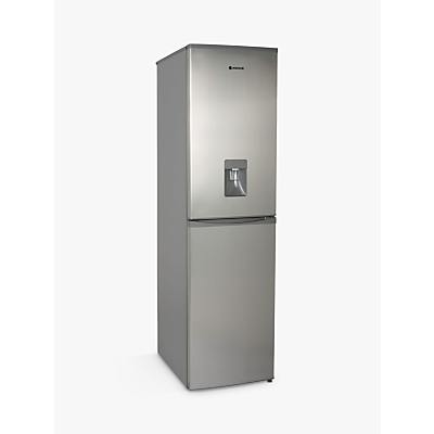 Image of Hoover HFF195XWK Freestanding Fridge Freezer, A+ Energy Rating, 55cm Wide, Stainless Steel