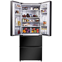 Buy Hoover HMN7182 4-Door American Style Fridge Freezer, A+ Energy Rating, 70cm Wide Online at johnlewis.com