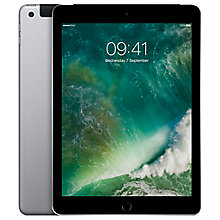 "Buy New Apple iPad (2017), A9, iOS 10, 9.7"", 128GB, WiFi & Cellular Online at johnlewis.com"