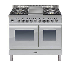 Buy ILVE PDW100FE3 Roma Dual Fuel Freestanding Range Cooker Online at johnlewis.com