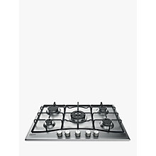 Buy Hotpoint PCN752 Gas Hob, Inox Online at johnlewis.com