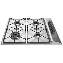 Buy Hotpoint PAN642IXH Gas Hob, Silver Online at johnlewis.com