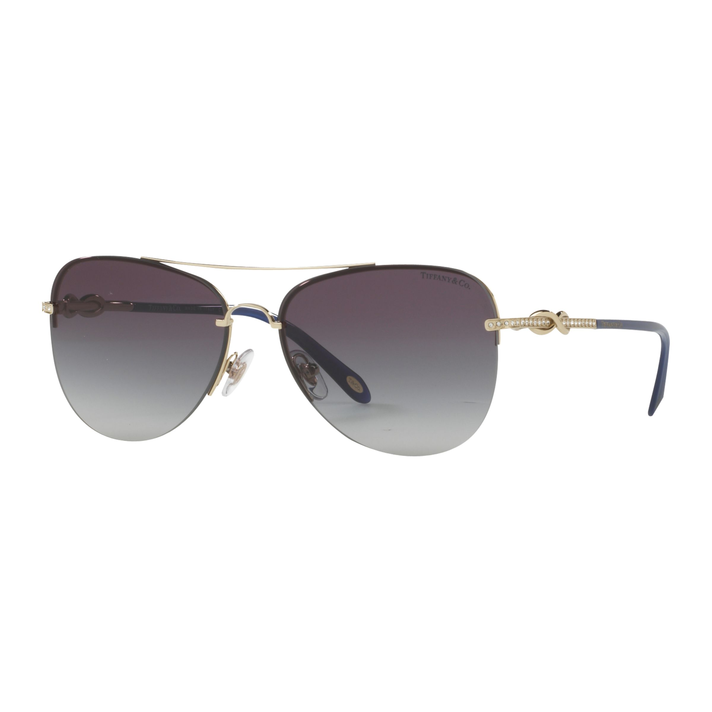Tiffany & Co Tiffany & Co TF3054B Embellished Aviator Sunglasses