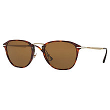 Buy Persol PO3165S Polarised D-Frame Sunglasses, Tortoise/Brown Online at johnlewis.com