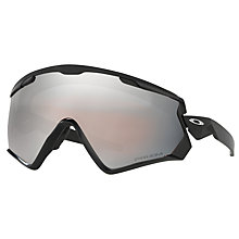 Buy Oakley OO7072 Wind Jacket 2.0 Prizm Snow Goggles, Matte Black/Grey Online at johnlewis.com
