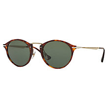 Buy Persol PO3166S Calligrapher Edition Oval Sunglasses, Tortoise/Dark Green Online at johnlewis.com