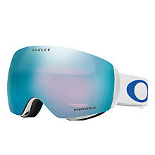 Buy Oakley OO7064 Flight Deck™ XM Lindsey Vonn Prizm™ Snow Goggles, White/Sapphire Iridium Online at johnlewis.com