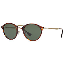Buy Persol PO3166S Calligrapher Edition Oval Sunglasses, Tortoise/Grey Online at johnlewis.com
