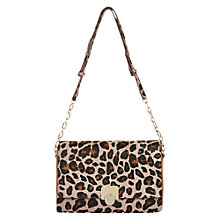Buy Hobbs Pimlico Cross Body Bag, Mink/Leopard Online at johnlewis.com