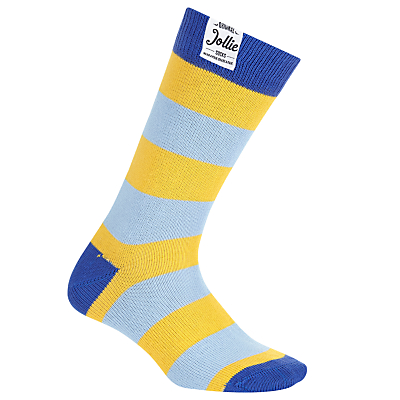 Jollies 'The No.1' Stripe Socks, One Size, Blue/Yellow