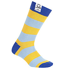 Buy Jollies 'The No.1' Stripe Socks, One Size, Blue/Yellow Online at johnlewis.com