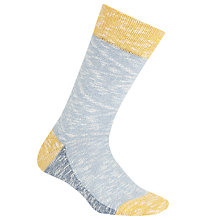Buy Jollies 'Prankster' Colour Block Socks, One Size, Blue/Yellow Online at johnlewis.com