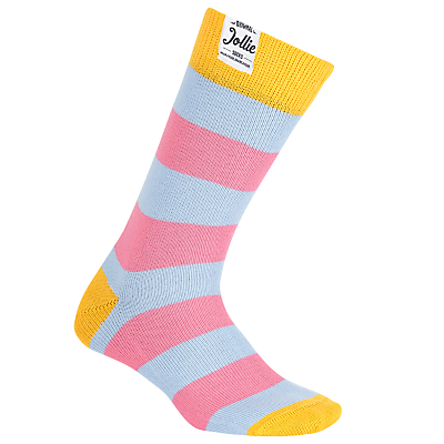 Jollies 'The Joker' Socks, One Size, Pink/Blue