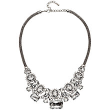 Buy Adele Marie Crystal Beads Statement Mesh Necklace, Silver/Clear Online at johnlewis.com