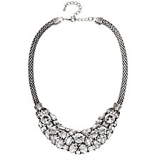 Buy Adele Marie Oval Mesh Rope Diamanté Collar Necklace, Silver Online at johnlewis.com