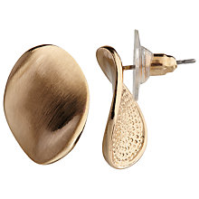 Buy John Lewis Brushed Oval Twist Stud Earrings Online at johnlewis.com
