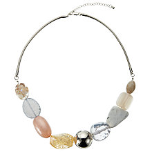 Buy John Lewis Beaded Snake Chain Necklace, Pastel Pink/Multi Online at johnlewis.com