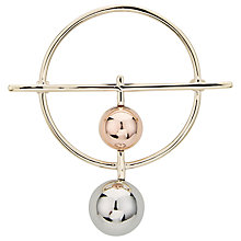 Buy John Lewis Circles Brooch, Gold/Silver Online at johnlewis.com