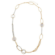 Buy John Lewis Long Oval Link Statement Chain Necklace, Gold/Silver Online at johnlewis.com