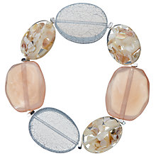 Buy John Lewis Outsize Bead Stretch Bracelet, Pastel Pink/Multi Online at johnlewis.com