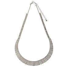 Buy John Lewis Short Fan Necklace, Silver Online at johnlewis.com