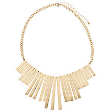 Buy John Lewis Statement Short Fan Necklace, Gold Online at johnlewis.com