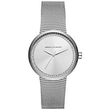 Buy Armani Exchange Women's Crystal Mesh Bracelet Strap Watch Online at johnlewis.com