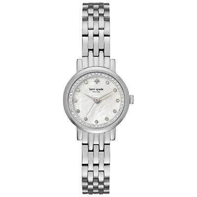 kate spade new york KSW1241 Women's Mini Monterey Bracelet Strap Watch, Silver/Mother of Pearl