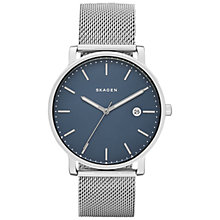 Buy Skagen SKW6327 Men's Jorn Bracelet Strap Watch, Silver/Black Online at johnlewis.com
