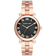 Buy Michael Kors MK3585 Women's Norie Bracelet Strap Watch, Rose Gold/Black Online at johnlewis.com