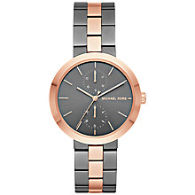 Buy Michael Kors MK6431 Garner Bracelet Strap Watch, Gunmetal/Rose Gold Online at johnlewis.com