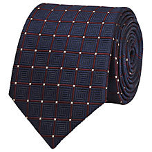 Buy Reiss Luther Geometric Silk Tie, Navy Online at johnlewis.com
