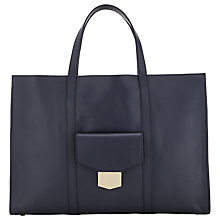 Buy John Lewis Carla Leather Tote Bag, Navy Online at johnlewis.com