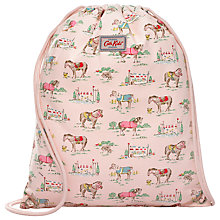 Buy Cath Kidston Children's Pony Print Drawstring Bag, Pink Online at johnlewis.com