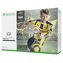 Buy Microsoft Xbox One S Console, 1TB, with FIFA 17 Download Online at johnlewis.com