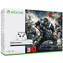 Buy Microsoft Xbox One S Console, 1TB, with Gears of War 4 Online at johnlewis.com