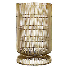 Buy John Lewis Fusion Hurricane Lamp, Gold Online at johnlewis.com