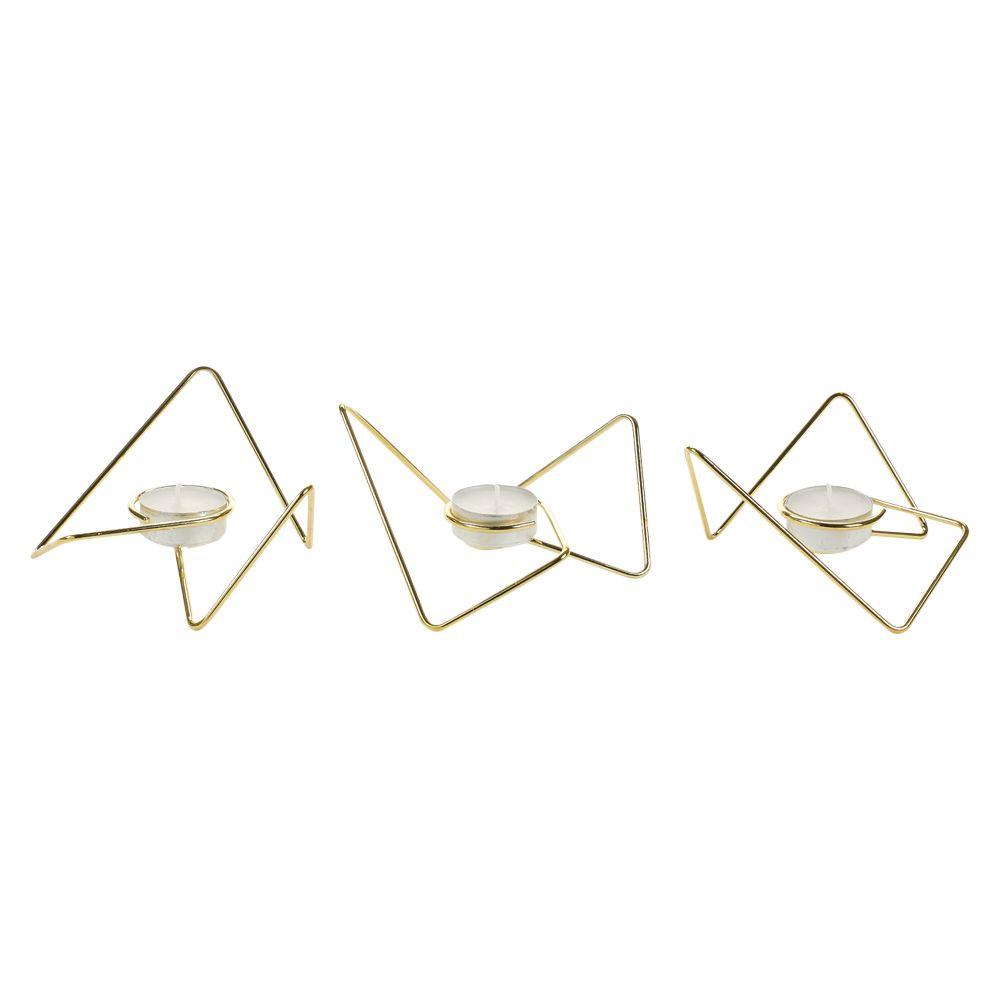 Black and Blum Black and Blum Loop Triangular Tealight Holder